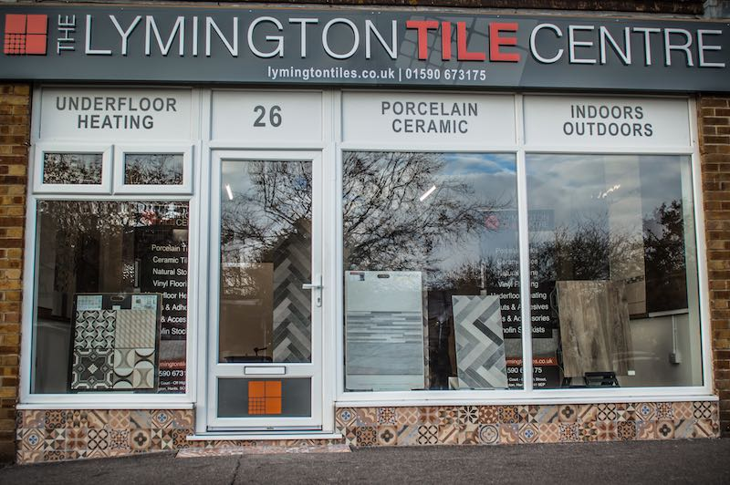the lymington tile centre shop front